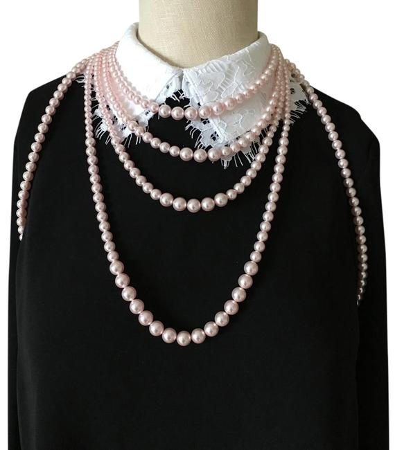 Chanel Pink Pearl Bodysuit Runway Limited Edition Necklace Chanel Pink Pearl Bodysuit Runway Limited Edition Necklace Image 1