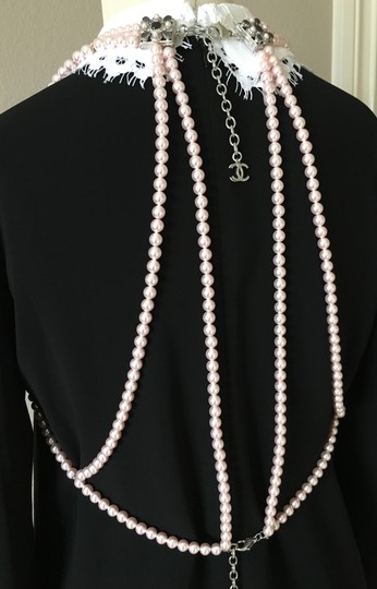 Chanel Chanel Pink Pearl Necklace Bodysuit Runway Limited Edition Image 7