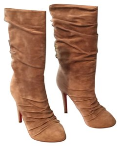 Christian Louboutin Tan suede Boots
