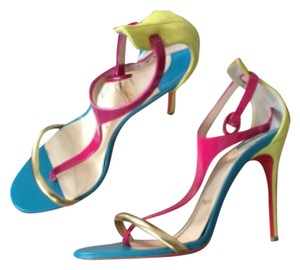 Christian Louboutin Yellow, Turquoise, Pink Sandals
