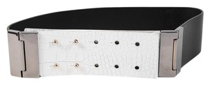 Kenneth Cole * Kenneth Cole Double Hinge Black and White Belt - Size XS
