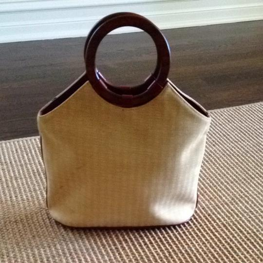 Isabella Fiore Tote in Tan With Jewel Tones