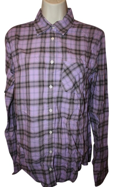 Item - Purple Plaid Button-down Top Size 4 (S)