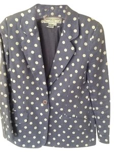 Adrienne Vittadini Polka Dot Summer Evenings. Bluish Lilac/ White Jacket