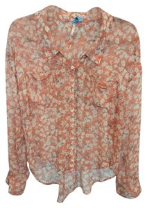 Free People Flowers Top Orange