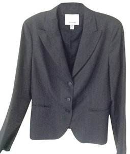 Façonnable Wool Sllk Blend Quality Garment Tres Fracaise! Charcoal Gray and White weave Jacket