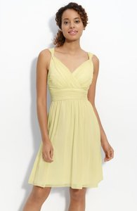 Donna Morgan Afterglow (very Pale Green, Cream Color) Donna Morgan Ruched Chiffon Dress Dress