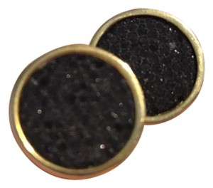 Black and Gold Large Stud-Style Earrings