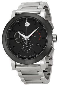 Movado MOVADO Museum Chronograph Grey Dial Stainless Steel Men's Watch 0606792