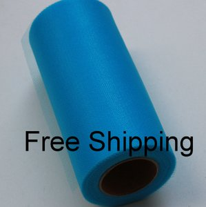 Turquoise Shimmer Tulle Roll - 25 Yard X 6 In - Shimmer Tulle Roll - 25 Yard Tulle Roll