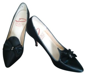 Dolce by Pierre Navy Satin Pumps