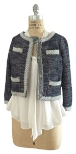 Anthropologie Isani Boucle chanel style jacket with Lucite trim