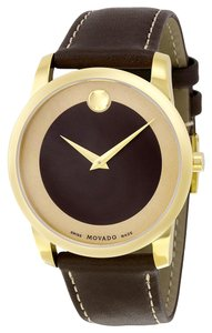 Movado MOVADO Bold Brown Dial Leather Men's Watch 0606880