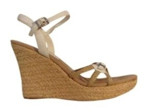 Mia Shoes Rope Leather Jute Nautical White Wedges