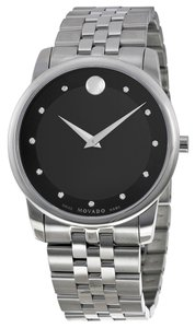 Movado MOVADO Museum Classic Black Dial Stainless Steel Men's Watch 0606878