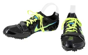 Nike Neon Green Running Mens Lace Up Black Athletic