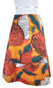 Marni Floral Print Cotton Skirt Multicolor