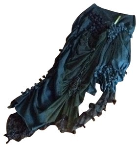 From italy Maxi Skirt Black , dark blue & green