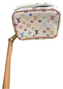 Louis Vuitton Wristlet in White Multi Monogram