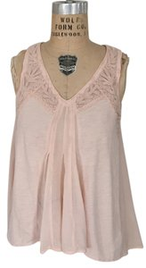 Anthropologie Ethereal Romantic Embroidery Hilo Top Pale Pink