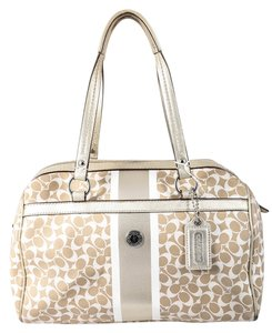 Coach Heritage Satchel Double Strap Monogram Shoulder Bag