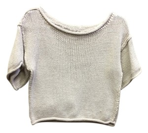 MILLY Crop Med Cotton Sweater