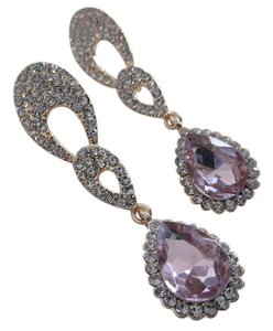 Simulated Pink Sapphires in Goldtone with Free Shipping