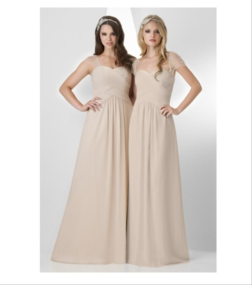 Bari jay bridesmaids dresses mobs used bari jay bridesmaids bari jay beige chiffon 877 formal bridesmaidmob dress size 10 m ombrellifo Image collections