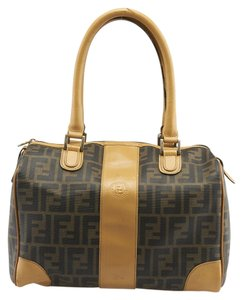 e84a8c789b3c Fendi S.a.s. Vintage Zucca Coated Canvas Satchel in Brown