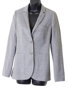 Talula Size 2 Wool-blend Lined Light Gray Blazer