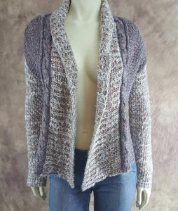 Anthropologie Moth Red Gray Sweater