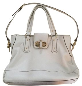Ann Taylor Satchel in White