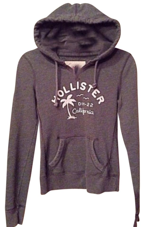 Hollister Grey XS Pullover Hoodie (5/6) Jacket Size 2 (XS)