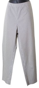 Womyn Size 10 Checkered Pants Capris Multi-Color