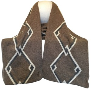 Pringle of Scotland Pringle of Scotland Wool Cashmere Camel Knit Argyle Scarf
