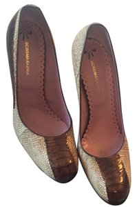 BCBGMAXAZRIA Ostrich beige / brown Pumps