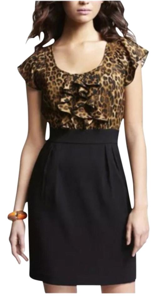dbb010e28f6 Express Multicolor Ruffle Front Leopard Print Above Knee Night Out ...