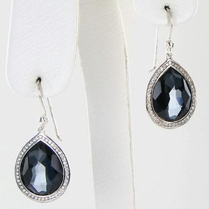 Ippolita Ippolita Stella Lollipop Drop Earrings 0.36cts Diamond Hematite 925