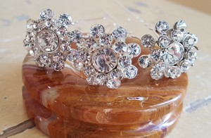 Bridal Silver Austrian Crystal Hair Pins Set Of 3