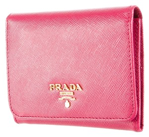 Prada Pink saffiano leather Prada Lux wallet New