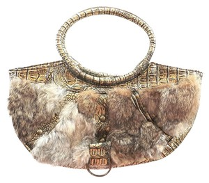 Other Handbag Rabbit Fur Faux Brown Messenger Bag