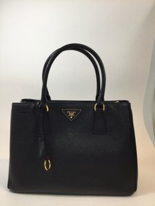 Prada Saffiano Tote in Black