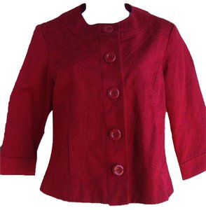 Coldwater Creek All Over Stich Button Down Red Jacket