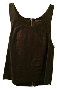 AllSaints Leather Shell Top Black