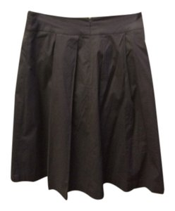 Tory Burch Pleated Pockets Lined Skirt Brown