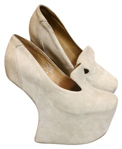 Jeffrey Campbell Taupe Platforms