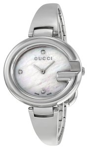 Gucci GUCCI ssima Mother of Pearl Diamond Dial Steel Large Ladies Watch YA134303