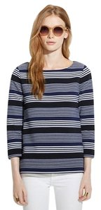 Madewell Bateau Boat Neck Stripe Top Navy