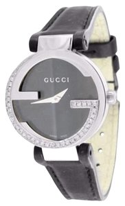 Gucci Womens 1.00 Carat Diamond Gucci Ya133501 Black Dial Interlocking Gg Mm Watch