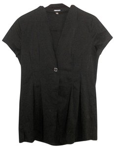 Adrienne Vittadini Shortsleeve Openfront Jacket Top